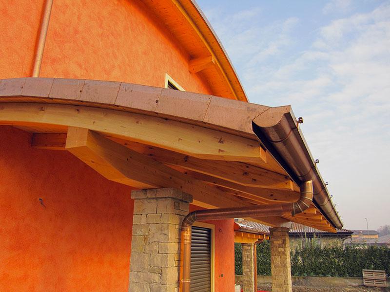 Installazione lattonerie in rame – Camisano (CR)