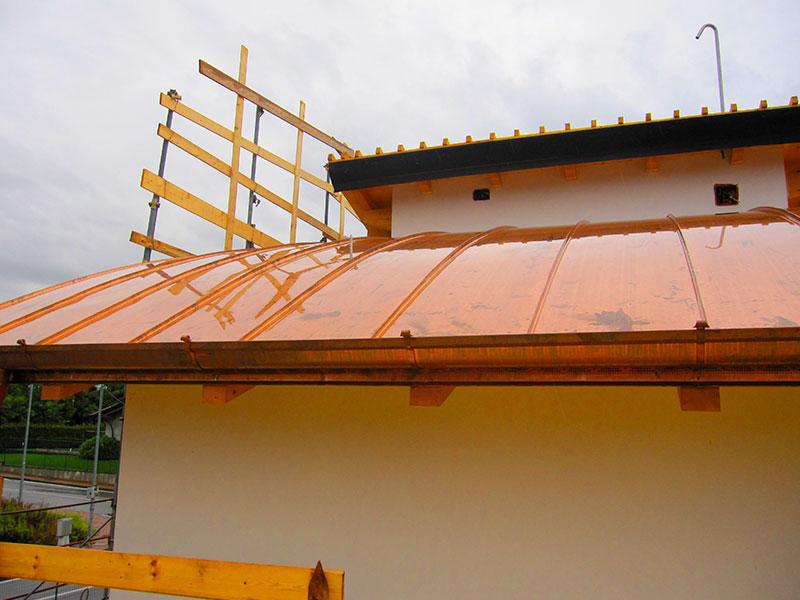 Installazione lattonerie in rame-Camisano-Eredi Pisoni-04