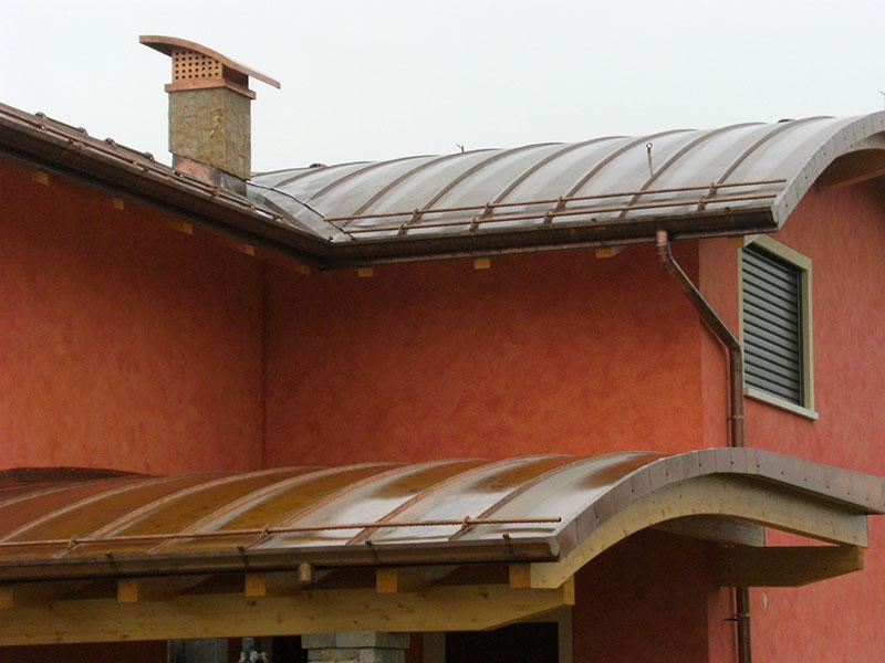 Installazione lattonerie in rame-Camisano-Eredi Pisoni-05