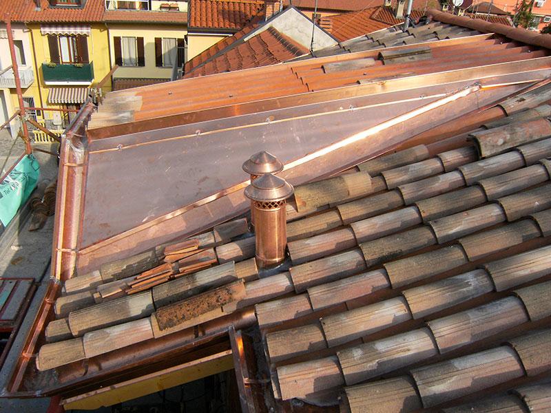 Installazione lattonerie in rame-Palazzolo-Eredi Pisoni-03